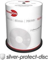 Primeon 2761103 CD-R 80 disc 700 MB 100 stuk(s) Spindel Mat zilver oppervlak