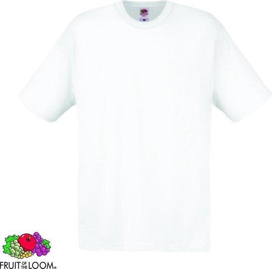 Fruit of the Loom T-shirt maat XXL 100% katoen 10 stuks (wit)