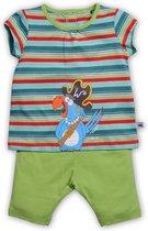 Woody pyjama meisjes papegaai - streep - 181-3-bsk-s/974 - maat 68