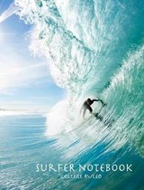 Surfer Notebook College Ruled