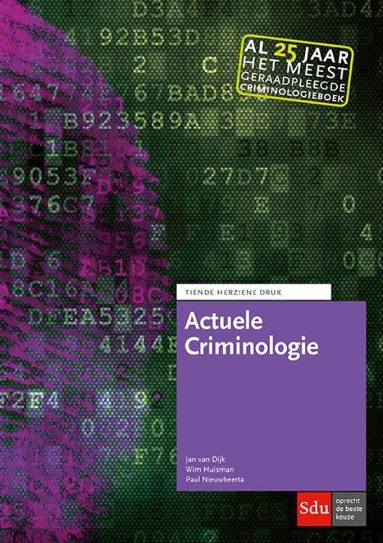 Boek cover Actuele Criminologie van Jan van Dijk (Paperback)