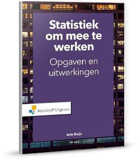 Statistiek om mee te werken - A. Buijs |