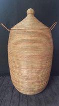 Wasmand traditioneel natuur-bruin zeegras hout