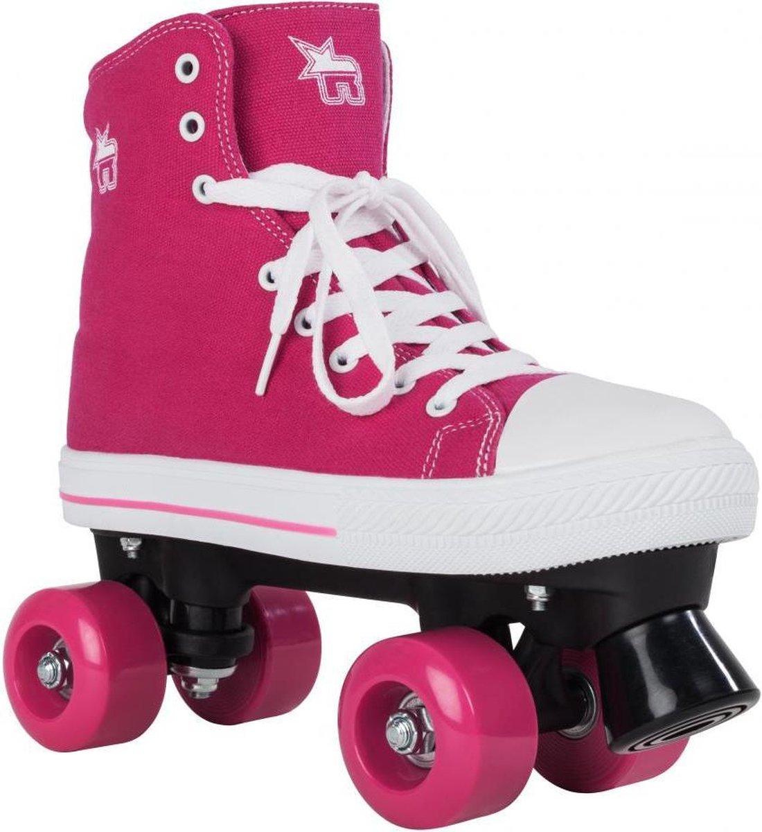 Rookie Canvas high roze rolschaatsen