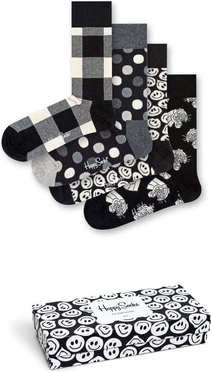 Happy Socks Black & white giftbox - Maat 36-40 - Happy Socks