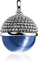 Zinzi zilveren bol hanger blauw ZIH792B