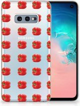 Samsung Galaxy S10e TPU Hoesje Design Paprika Red