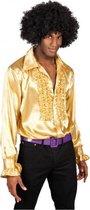 Voordelige gouden rouches blouse 2XL