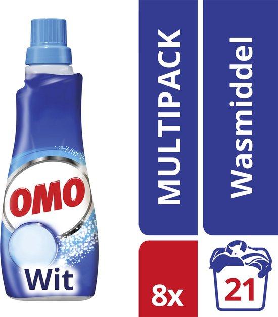 Omo Wit Vloeibaar Wasmiddel - 8 x 21 - wasbeurten - Voordeelverpakking
