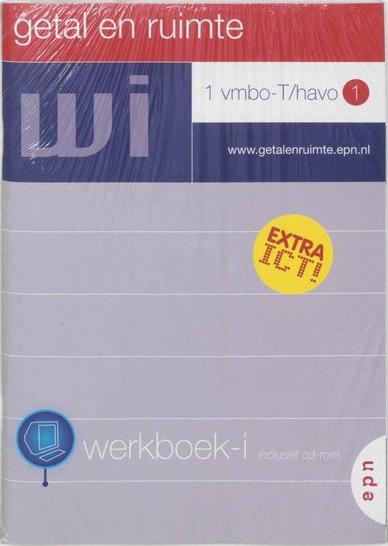 Getal en Ruimte / 1 Vmbo-T/havo 1 / deel Werkboek-i + CD-ROM en koershoekmeter - L.A. Reichard   Fthsonline.com