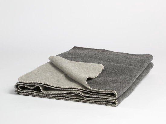 Yumeko Wollen deken grijs 75x100