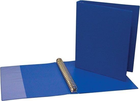 9x Ringmap voor A4, 23 ringen van 24mm, uit PVC, blauw