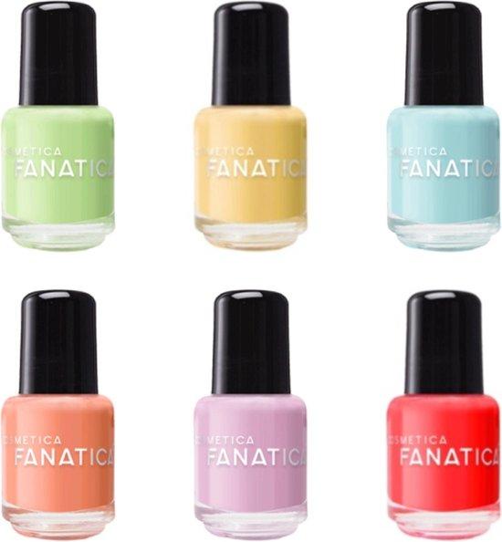 Cosmetica Fanatica - Nagellak - pastel geel - 1 mini flesje met 5 ml. inhoud