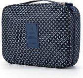Travel 'Blue Star' Toilettas Blauw/Groen | Make Up Organizer/Travel Bag/Reistas | Fashion Favorite