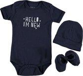 Baby YAY! Jongens Babyset - navy - Maat 62/68
