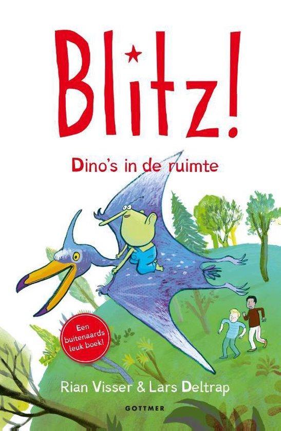 Boek cover Blitz! 5 -   Dinos in de ruimte van Rian Visser (Hardcover)