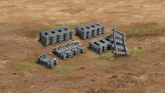 LEGO City Rechte en Gebogen Rails - 60205