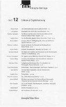 Text. Kritische Beiträge 12