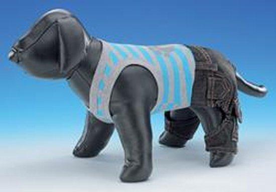 Nobby t-shirt met broek hond - blauw - 35 cm