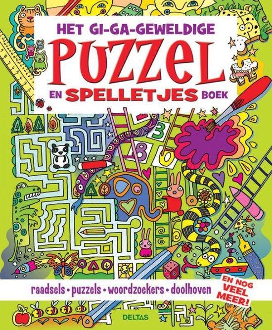 Het gi-ga-geweldige puzzel- en spelletjesboek - Lisa Regan |