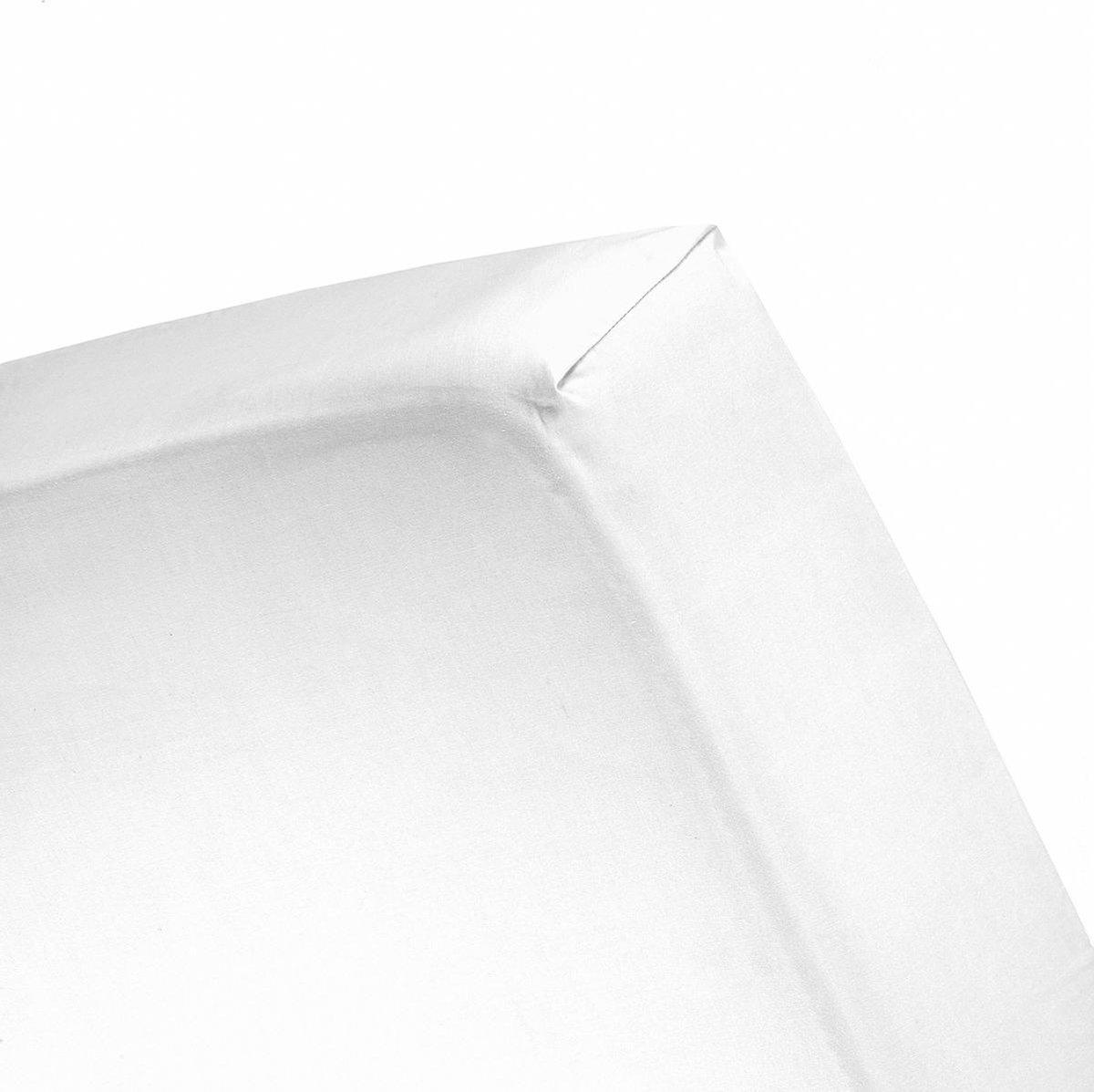 Cinderella Hoeslaken Tot 25 cm dikte - Jersey - 120x200 cm - White