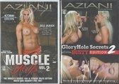 dvd - Aziani - 2 pack - Muscle milfs 02 / Gloryhole secrets busty edition