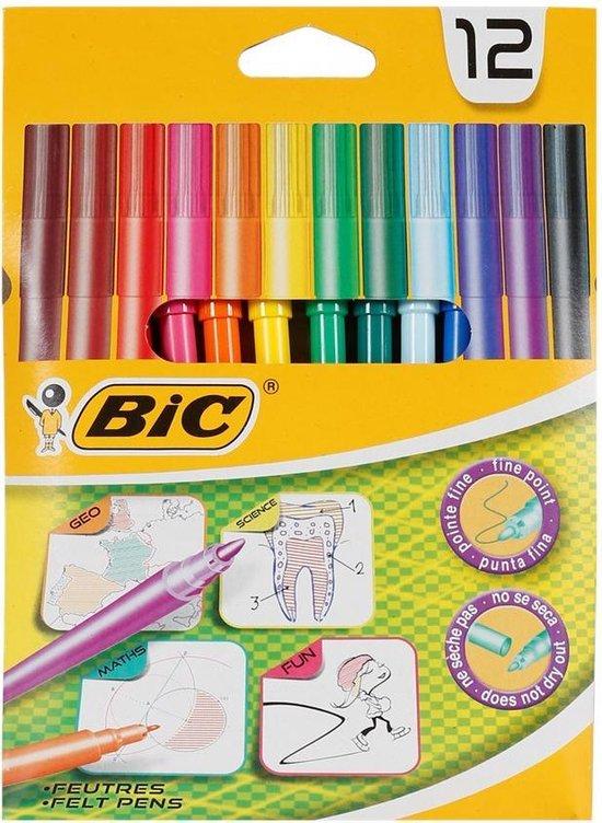 12 BIC Kleurstiften - Viltstiften