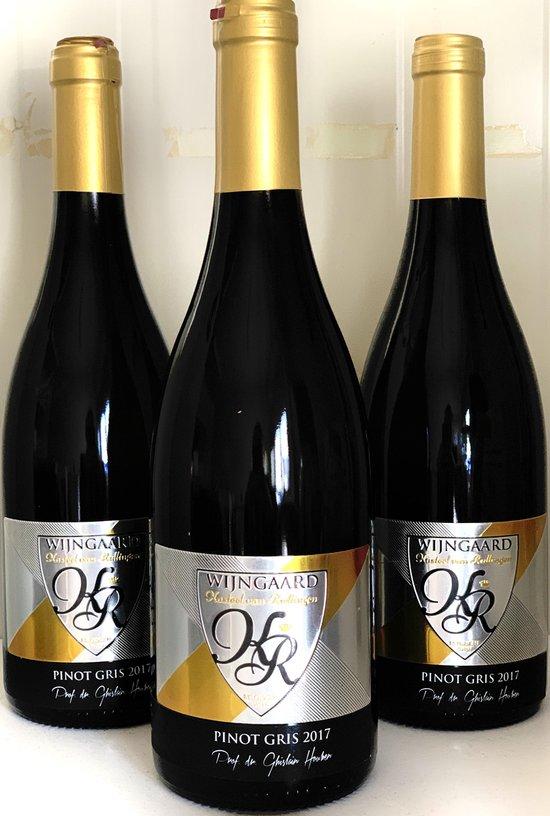 Hoenshof - Pinot Gris '17 - Belgische witte wijn - 3 flessen - Doos