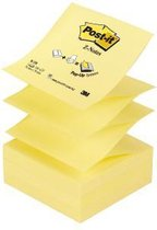 Post-it® Z-Notes , Navullingen, Canary Yellow™, 76 x 76 mm, Individueel Verpakt, 100 Blaadjes/Blok