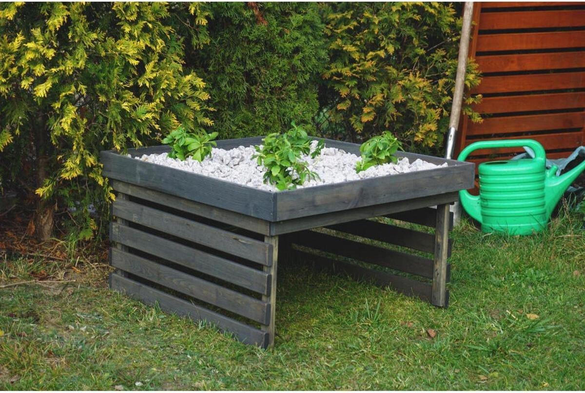 Garage voor robotmaaier - Grasmaaier robotgarage met plantendak