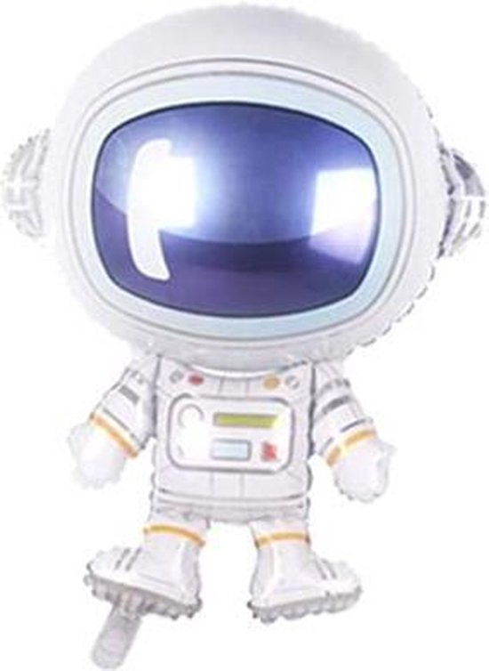 Folieballon Astronaut - 75cm - Ruimte Versiering - Astronaut Decoratie - Ruimte Feest