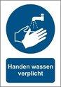 Handen wassen A4