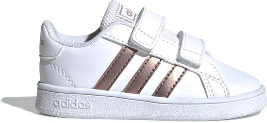adidas Grand Court Sneakers - Maat 23 - Unisex - wit/brons