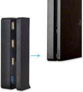 USB Hub voor PS4 SLIM - 4 port - USB 3.0 - USB 2.0 - Gaming HUB PS4 SLIM - Zwart