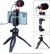 Ulanzi Smartphone Vlog KIT: Mini-Statief, Telefoonhouder & Microfoon