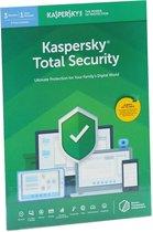 Kasperksy Total Security | 3 Apparaten | 2 Jaar | Engelse verpakking | 2020