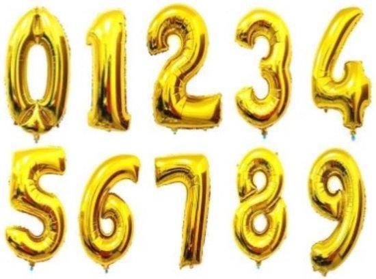 Folie ballon gouden 8