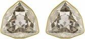 Swarovski March Fox Stud Pierced Earrings, Gray, Gold plating 5421726