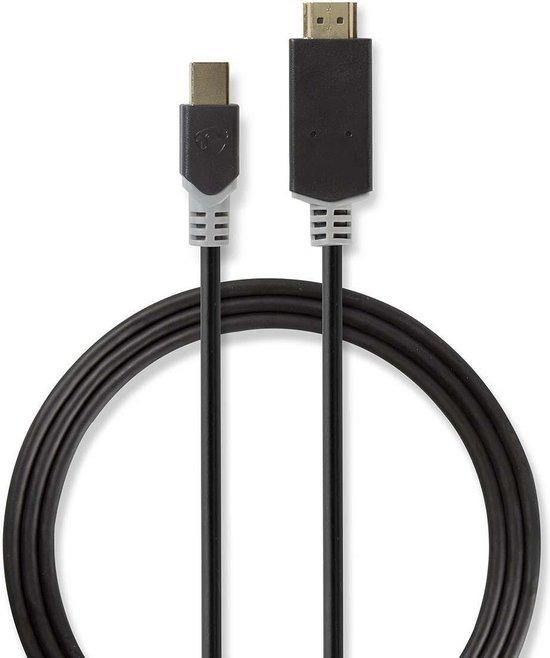 Nedis Mini DisplayPort 1.2 naar HDMI 1.4 kabel (4K 30 Hz) - 2 meter