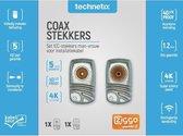 Technetix IECMF-A+ Coax IEC schroef connectoren set / haaks