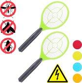 relaxdays 2x elektrische vliegenmepper - groen - tegen muggen - vliegen mepper elektrisch