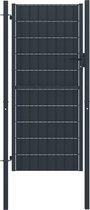 vidaXL Poort 100x124 cm staal antraciet