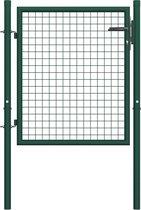 vidaXL Poort 100x125 cm staal groen
