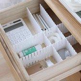 Lade Verdeler - Lade Organizer - Voor een Opgeruimde Lade in je Bureau, Keuken, Kledingkast, Badkamer - Oplossing voor Opgeruimde Vakken in je Lade - Ladeverdeler - Ladeorganizer - Ladeorganiser - Lade Organiser - 4 Witte Strips van 32,4 x 7 cm
