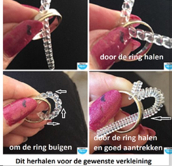 Ring verkleiner- smalle ring- Kunststof- Kleiner maken