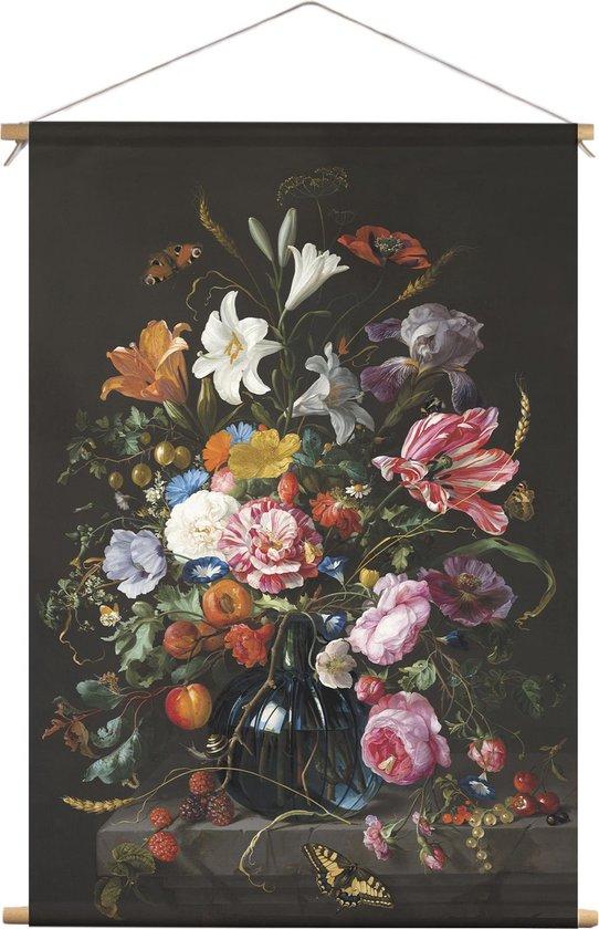 Textielposter / Schoolplaat Vaas met Bloemen | 90 x 120 cm | PosterGuru