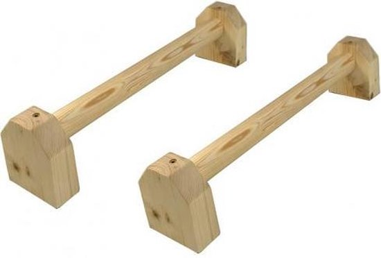 Strongman super lage houten parallettes (set van 2)