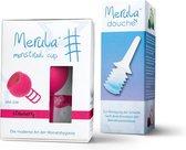 Merula menstruatie cup + Merula douche - strawberry roze