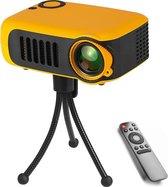 A2000 - Mini Beamer - Beamer Projector - USB - HDMI Kabel - Powerbank Voorziening - Regelbare Lens - Lens Beschermer - Draagbaar - Kerstcadeau - Oranje