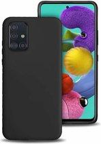 Shieldcase silicone case Samsung Galaxy A71 (zwart) + glazen screen protector